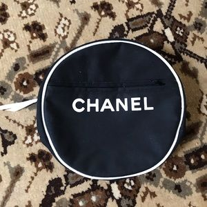 Authentic Chanel lined makeup bag